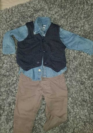 Ubrania, zestawy dla chłopca: Next, River Island i inne.