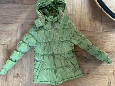 Coccodrillo zielona  pikowana kurtka 128