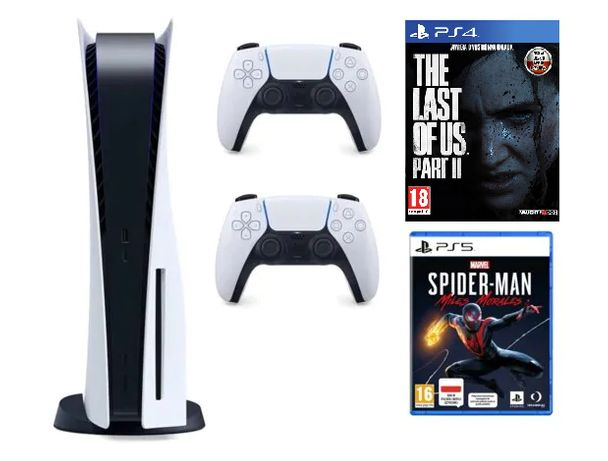Playstation 5 napęd nowa + spider man miles morales + tlou2