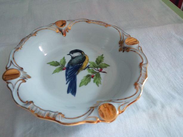 Popielniczka,wzór ptak,ręcznie malowana