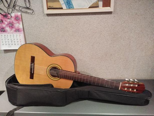 Piękna gitara klasyczna Rosario BCG-395N z solidnym pokrowcem !!
