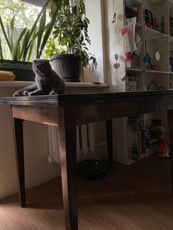 Деревянный обеденный стол трансформер