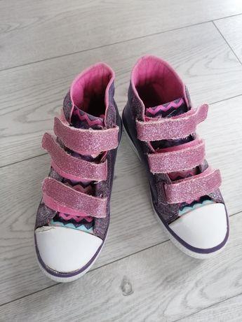 Buty półbuty trampki świecące dziewczynka 31