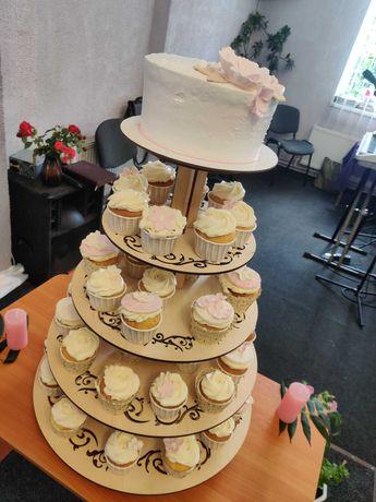 Подставка под капкейки и свадебный торт