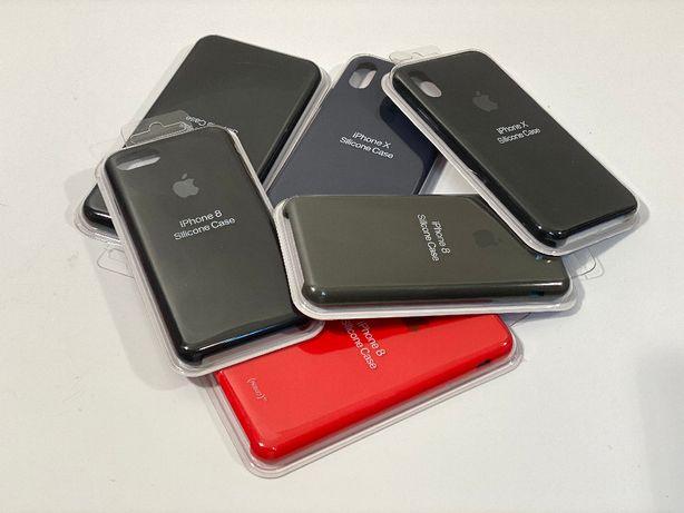 etui silikon Apple iPhone 7, 8, 7+,8+, X, 5, 5SE, 6, 6S, 6+, 4; szkło