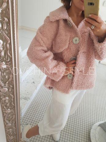 Полушубок шубка меховая куртка натуральная овчина мех 100%