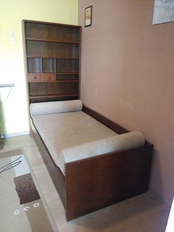 Łóżko młodzieżowe z regałem