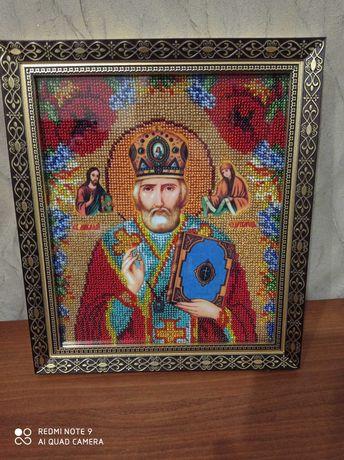 2 иконы Казанская божья матерь и Николай угодник