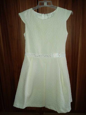 Sukienka na lato dla dziewczynki elegancka roz 128