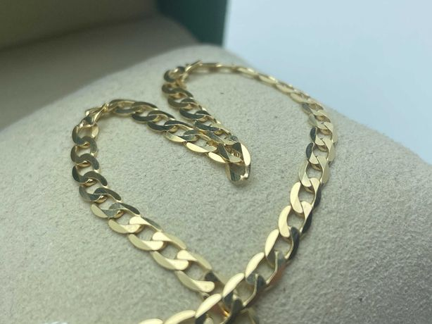 Złota bransoletka PANCERKA 4,30g 585 21cm. LOM95