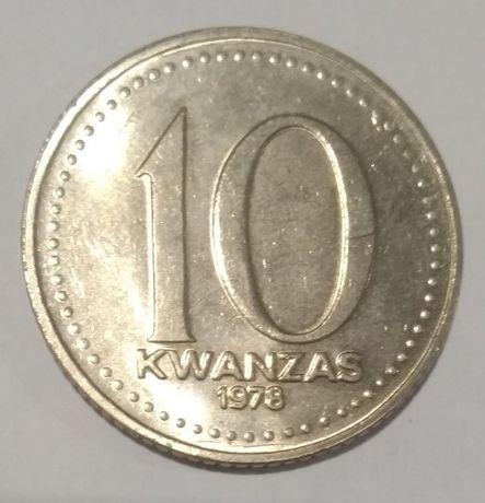 Moeda de Angola – Kz 10 (dez Kwanzas) – 1978