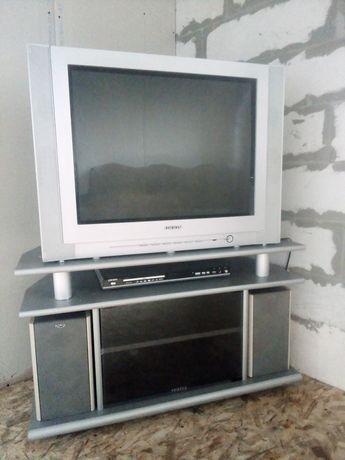 Продаю телевизор Орион с тумбой, диагональ 70см экран плоский