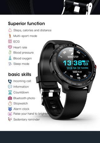Smartwatch tętno ekg tlenu we krwi, tempo, pogoda, sterowanie muzyką