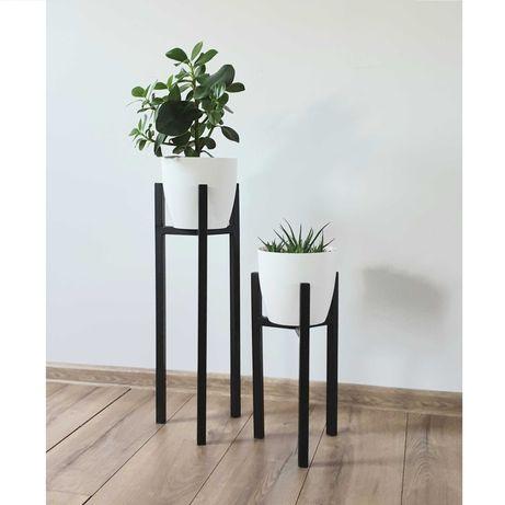 Kwietnik, stojak na kwiaty, industrialny loft, 3 nogi, metalowy
