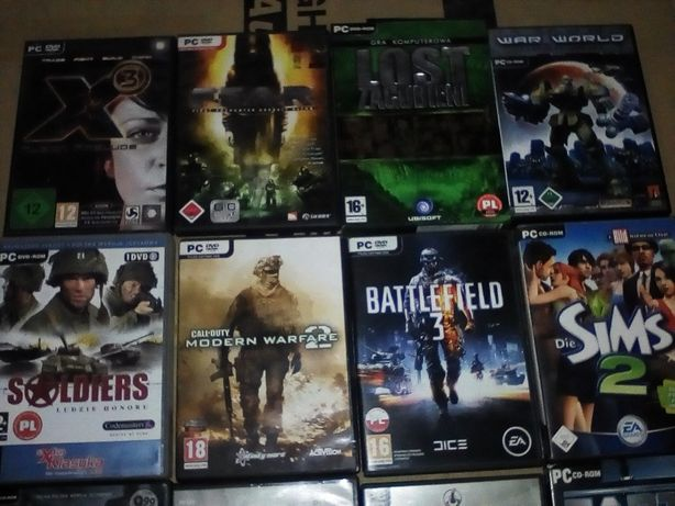 Call of duty Lost Battlefield oraz inne gry na PC cały zestaw