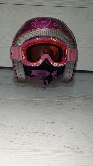kask narciarski dla dziewczynki roz 54