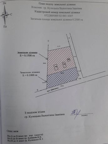 Продам земельну ділянку с.Гаразджа (0.10га)