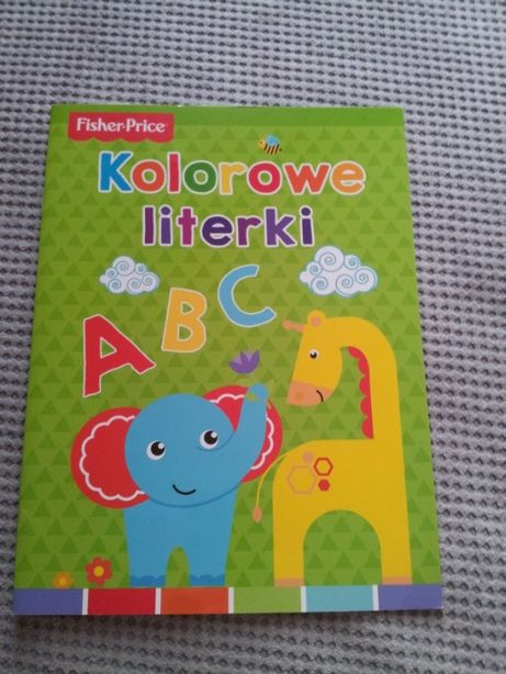 kolorowe literki fischer price książka