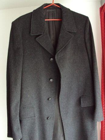 Nowy płaszcz męski, długi, czarny.