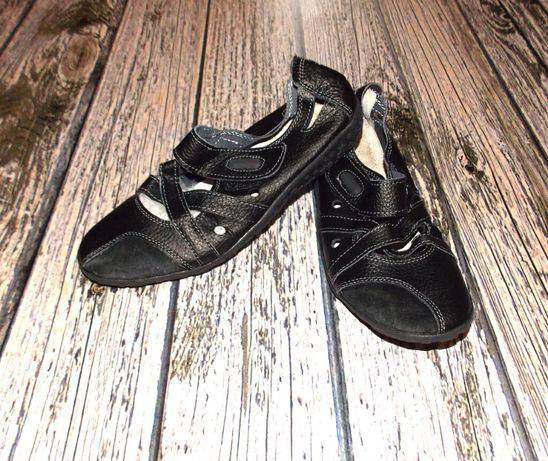 Кожаные фирменные туфли для девушки, размер 36