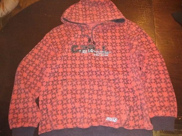 czerwona bluza z kapturem - 164cm