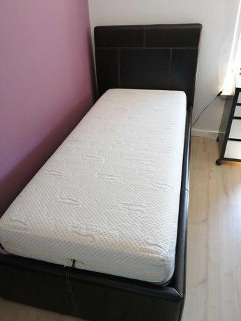 vendo cama, estrado e colchão
