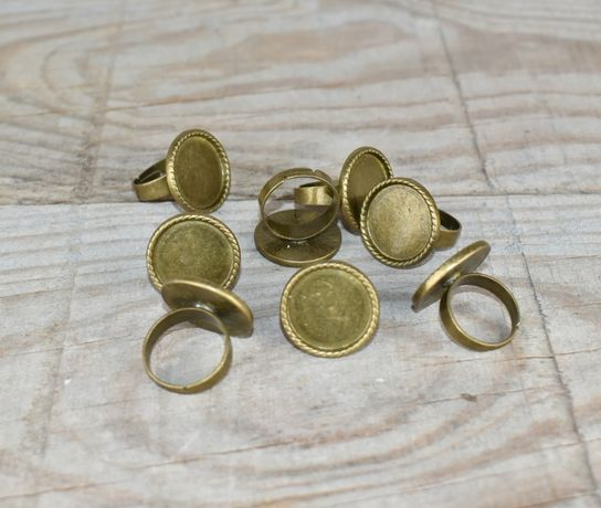 Material para bijuteria - bases anéis = 8 unidades