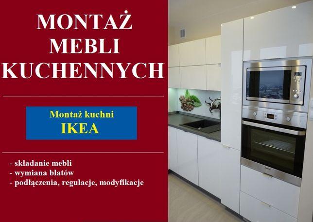 Montaż mebli - montaż kuchni IKEA - składanie mebli - montaż blatów