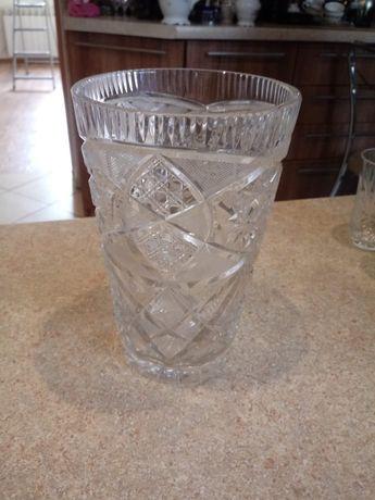 Kryształowy wazon PRL