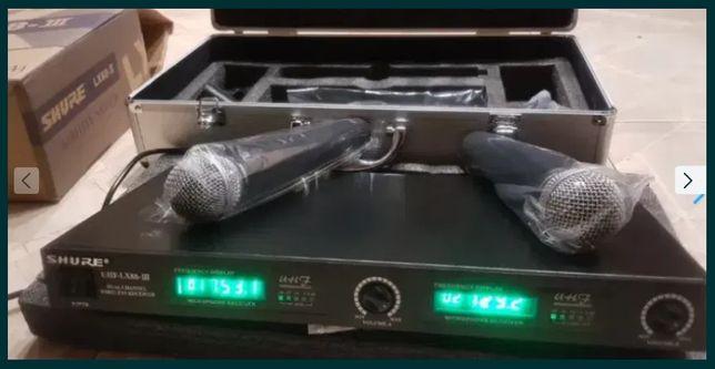 Радиосистема на 2 радиомикрофона SHURE для караоке, пения микрофон