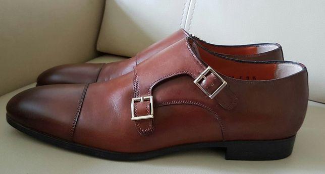 Туфлі монки Santoni розмір 9.5 ( 43.5 )