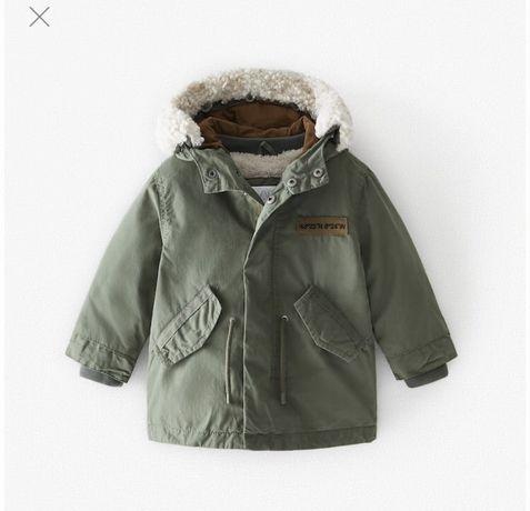 Куртка zara парка бомбер 3 в 1 ветровка 3-4 года next