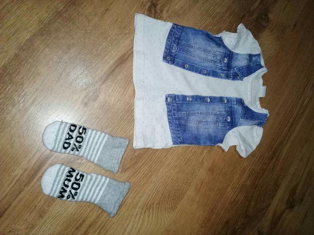 Bluzeczka t-shirt h&m 68