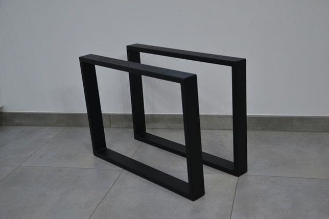 Nogi metalowe do stołu biurka industrial loft 70x72cm profil 60x20mm