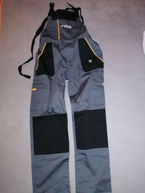 Spodnie robocze ogrodniczki marki Stiga nowe L