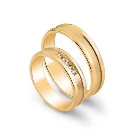 Złote obrączki ślubne próba 585 brylanty certyfikat NOWE