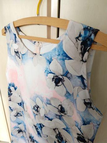 Sukienka wizytowa w kwiaty 42 xl