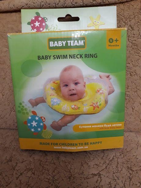 Коло для купання немовлят/ круг для плаванья /Круг надувной Baby team