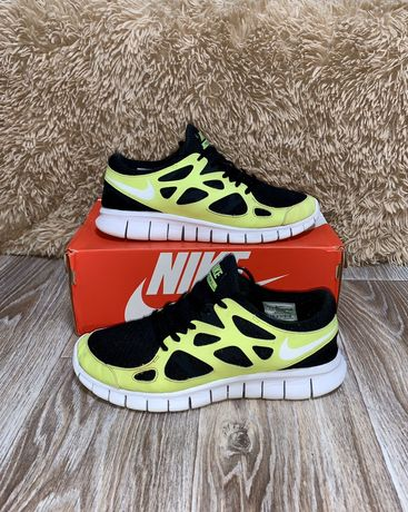 Кроссовки Nike Free Run 2. Черно Желтые. 27-27.5 см. Тренировка. Спорт