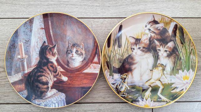 "2 тарелки ""Коты"" Franklin MINT"