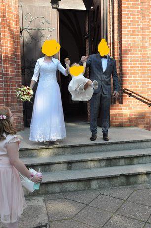 Sprzedam suknie ślubna r36 kolor śmietankowy Gratis bolerko 34!