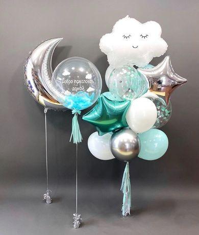 Гелиевые шары , шарики , шары ,коробка с сюрпризом