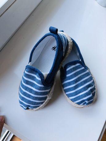 Espadryle h&m buciki dla chłopca 25 lato
