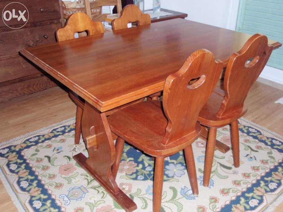 Mobiliario - Mesa St Clair INOVA - madeira maciça Azeitão (São Lourenço E São Simão) - imagem 1