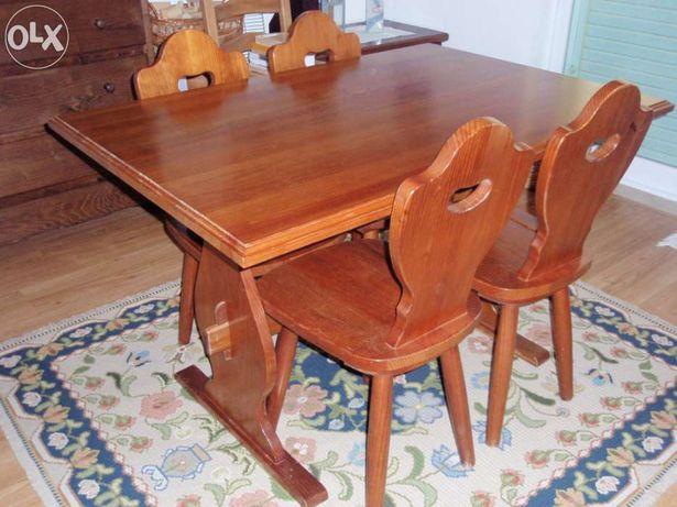 Mobiliario - Mesa St Clair INOVA - madeira maciça