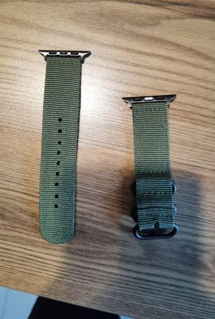 Zielony pasek Apple Watch 4/5 44mm w stylu wojskowym