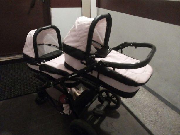 Wózek bliźniaczy 2w1 dla dziewczynek