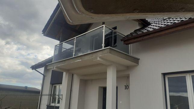 Balkony ,balustrady stal nierdzewna ze  szkłem bezpieczny