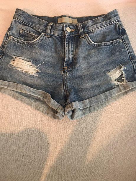 Spodenki poszarpane dziury jeansowe