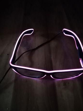 Świecące okulary (różowe)